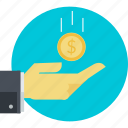 business, crowdfinding, donation, earning, finance, funding icon