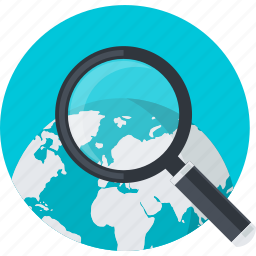 browser, flat design, global, round, search icon