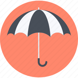 finance, flat design, insurance, protection, safeness, security, umbrella icon