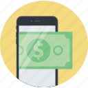 banking, flat design, m-banking, mobile, money, payment, shopping icon