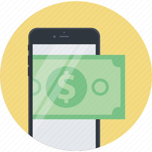 banking, flat design, m-banking, mobile, money, payment, shopping icon