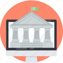 banking, e-banking, finance, flat design, money, online, transfer icon