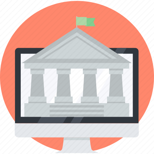 banking, e-banking, finance, flat design, money, online, transfer icon