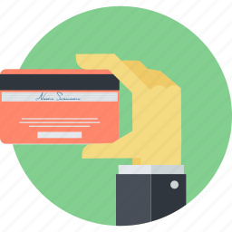 banking, credit card, finance, flat design, methods, payment, round icon