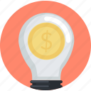 business, crowdfunding, flat design, idea, money, smart, solutions icon