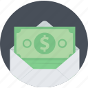 banking, finance, flat design, money, sending, sms, transfer icon