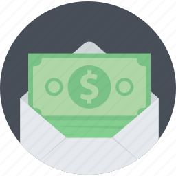 banking, finance, flat design, money, sending, sms, transfer icon