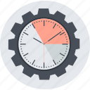 business, efficiency, flat design, round, seo, time icon