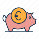 banking, finance, money, piggy bank, savings, treasure icon