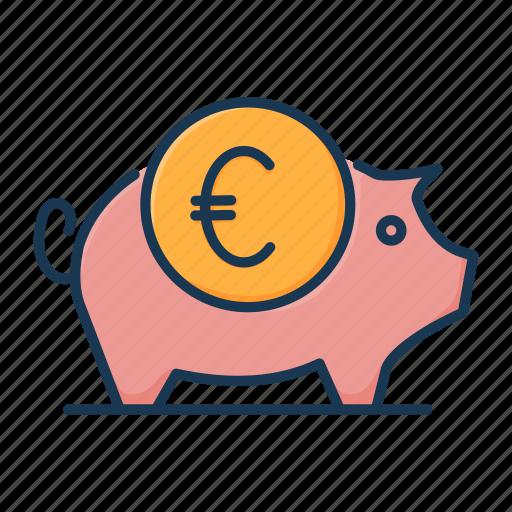 banking, finance, money, piggy bank, savings, treasure icon
