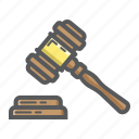 auction, business, crime, finance, gavel, hammer, judge icon