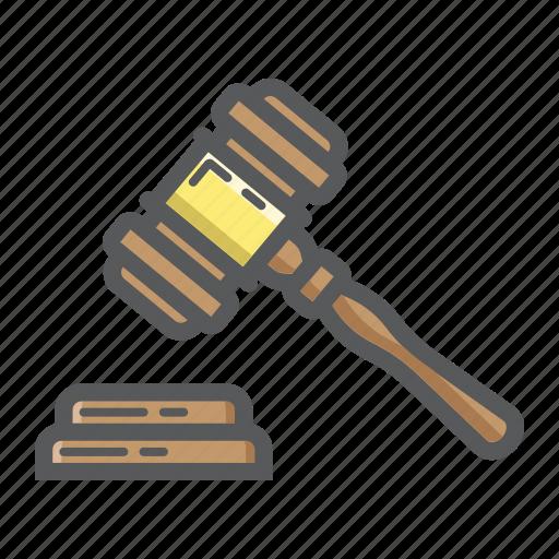 auction, business, crime, finance, gavel, hammer, judge icon