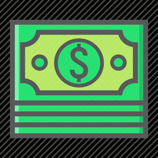bundle, business, cash, currency, dollar, finance, money icon