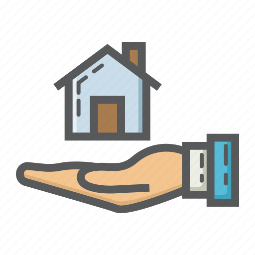 Business, buy, finance, hand, home, house icon - Download on Iconfinder