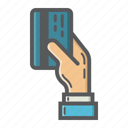 business, card, credit, finance, hand, pay, payment icon
