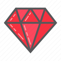 business, diamond, finance, gem, gift, jewel, rich icon