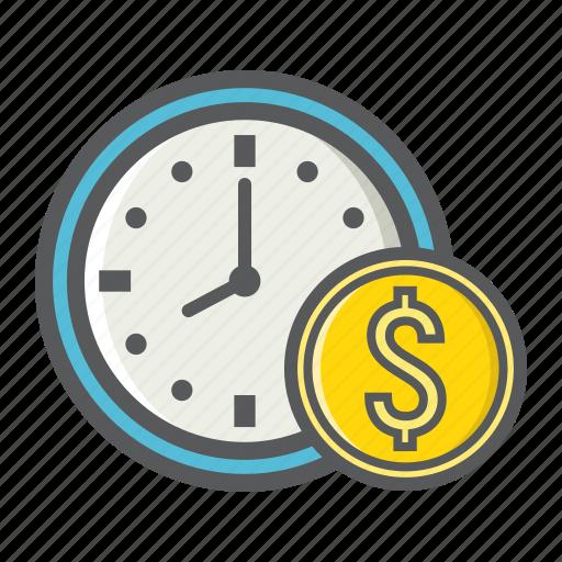 Business, clock, deadline, dollar, finance, money, time icon - Download on Iconfinder