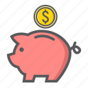 bank, business, economy, finance, investment, money, piggy icon