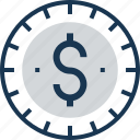coin, dollar, economy, finance, money icon