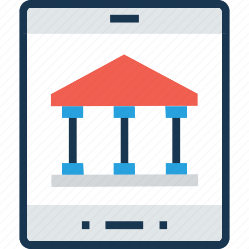 bank, banking, mcommerce, mobile, mobile banking icon