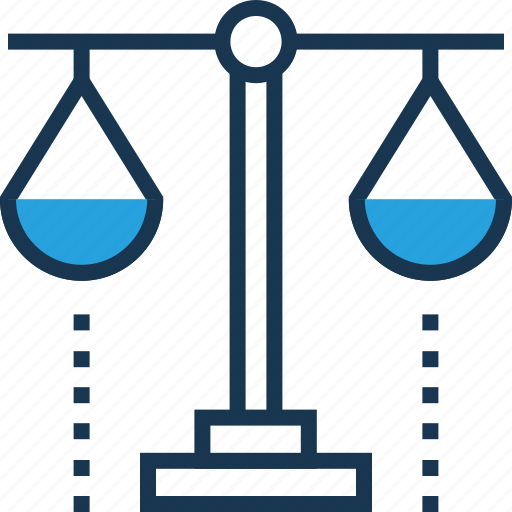 balance scale, court, justice, law, legal icon