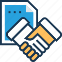 agreement, business contract, contract, deal, partnership icon