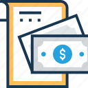 banknote, bill, invoice, receipt, voucher icon