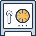 bank safe, bank vault, locker, money box, safe box icon