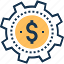 accumulation, business buildup, business strategy, dollar, wealth accumulation icon