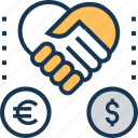 corporate, fund sponsor, funding, funding corporate, partnership, sponsor icon