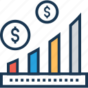 bar chart, business growth, growth, growth chart, statistics icon