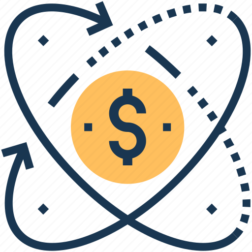 business, dollar, international business, investment, processing icon