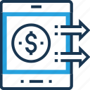 banking, mobile banking, mobile payment, online transaction, payment icon