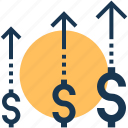 business enhance, earning growth, investment, profit, profit growth icon