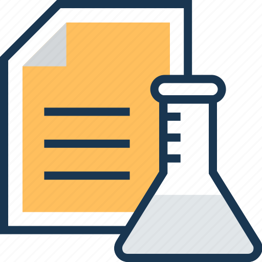 chemical, conical flask, flask, research, research report icon