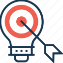 bulb, business idea, business strategy, idea, strategy icon