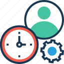clock, planning, schedule, time management, time organizer icon