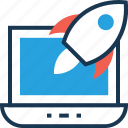 business startup, business strategy, launcher, missile, rocket icon