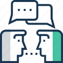 consultant, conversation, dialogue, discussion, talking icon