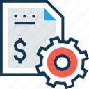 agreement, cog, contract, documents, paper icon