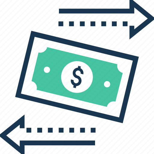 banknote, dollar, paper money, payment, transaction icon