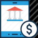 app, banking, banking app, dollar, modern banking icon