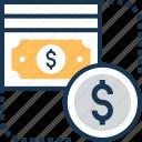 dollar, money, paper money, payment, transaction