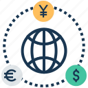 currency exchange, exchange, money exchange, online exchange, valuation icon