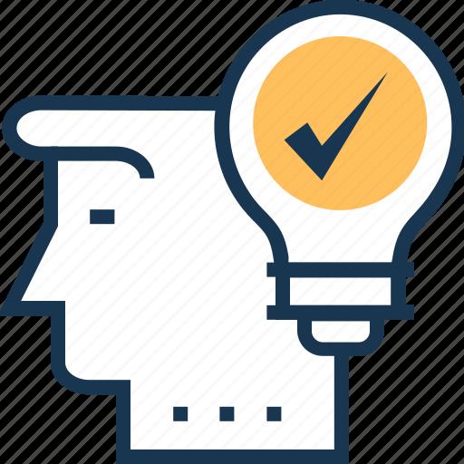 creativity, decisions, idea, resolution, solution icon