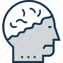 avatar, brain, head, human mind, mind icon