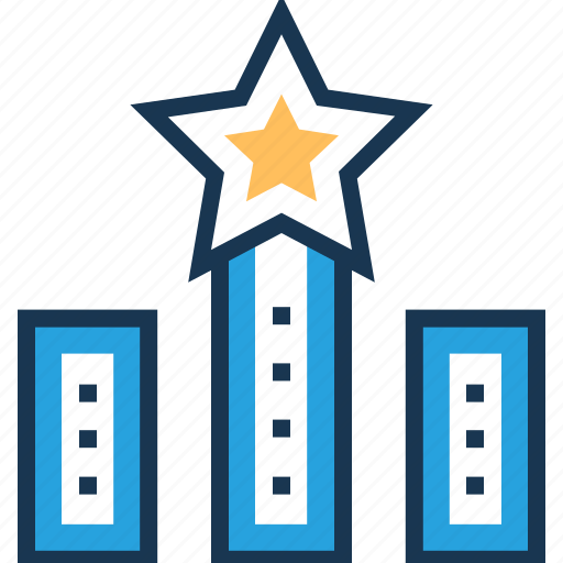 achievement, growth, promotion, ranking, star icon