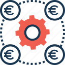 currency, euro, exchange, forex, money management icon