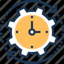 clock, planning, schedule, time management, time organizer icon