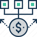 banking, cashflow, economy, money cycle, transaction icon